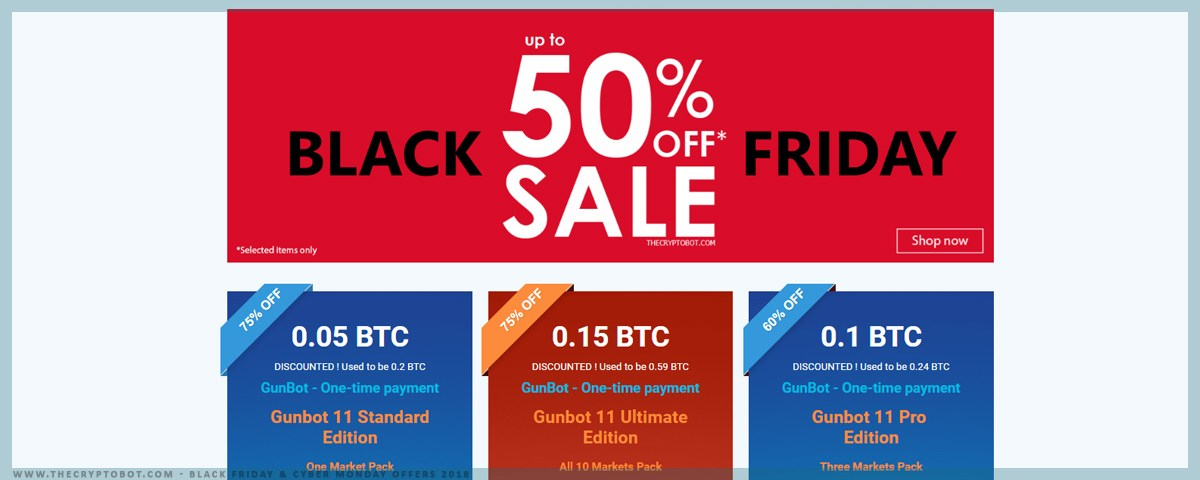 Gunbot Black Friday and Cyber Monday offer 2018