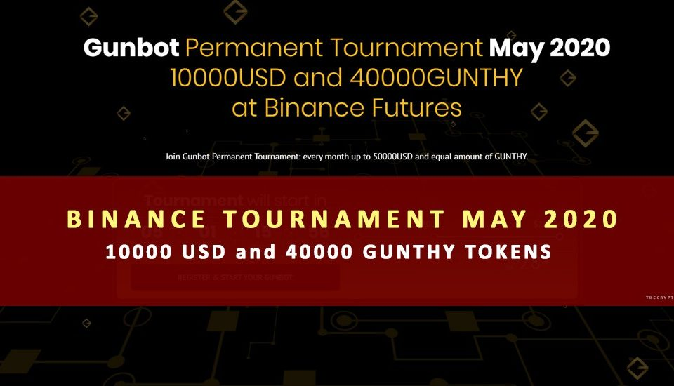 Gunbot Monthly Tournament 40000 tokens 10000 usd