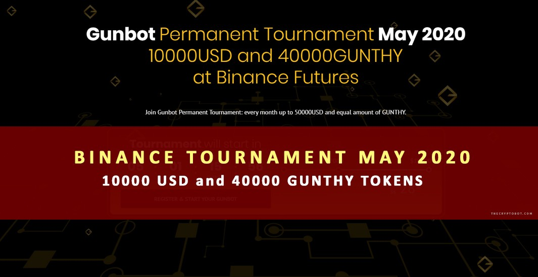 Gunbot Monthly Tournament 40000 tokens 10000 usd