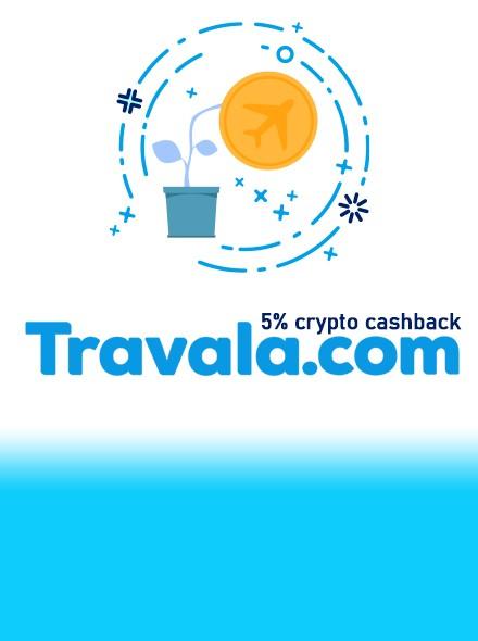 5% Cashback in Crypto - Travala